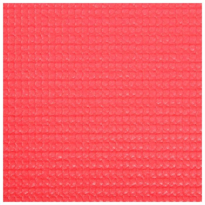 Коврик для йоги 173 х 61 х 0,3 см, цвет красный - фото 4
