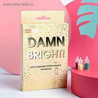 Набор пайеток для декора ногтей Damn bright, 12 цветов