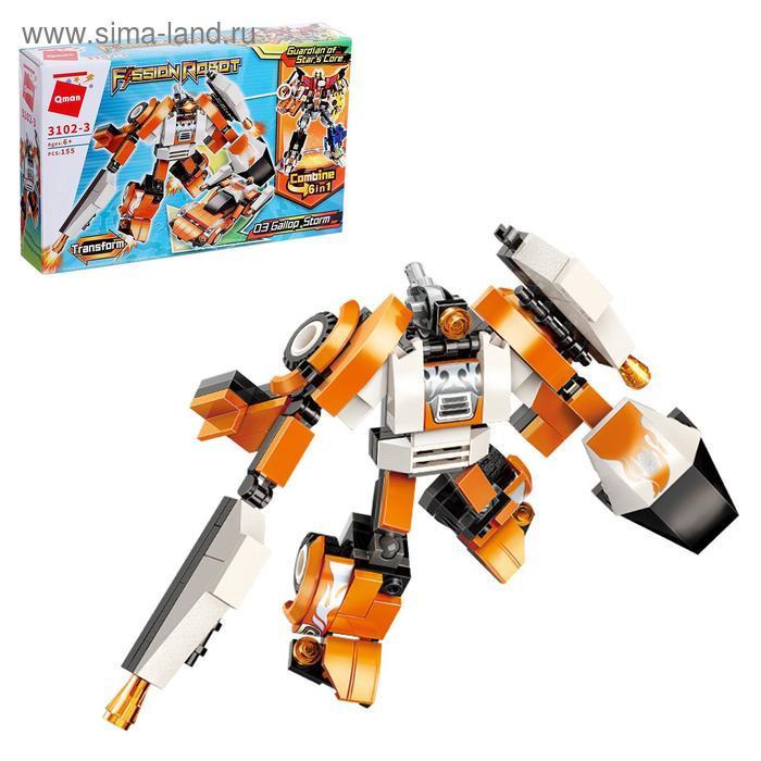 Конструктор Робот «Трансформер», 155 деталей - фото 1