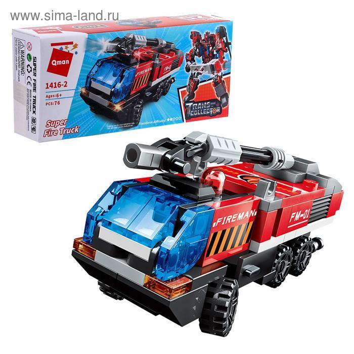 Конструктор Робот «Трансформер-пожарный», 6 видов, МИКС - фото 2
