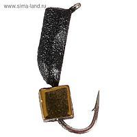 Мормышка вольфрам True Weight «Гвоздекубик» d=2, кубик золото