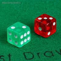 Кубики игральные 1.6х1.6 см, набор 2 шт., акрил