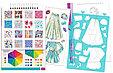 Make It Real Скэтчбук Блокнот с трафаретами для создания Модных дизайнов: Цветочная фантазия, фото 3