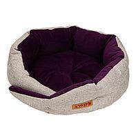 33726 Лежак с бортиком Сказка (флок) Violet, размер: 52х52х15