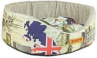 32774 Лежак с бортиком Премиум (флок) №4 London, размер: 55х43х16
