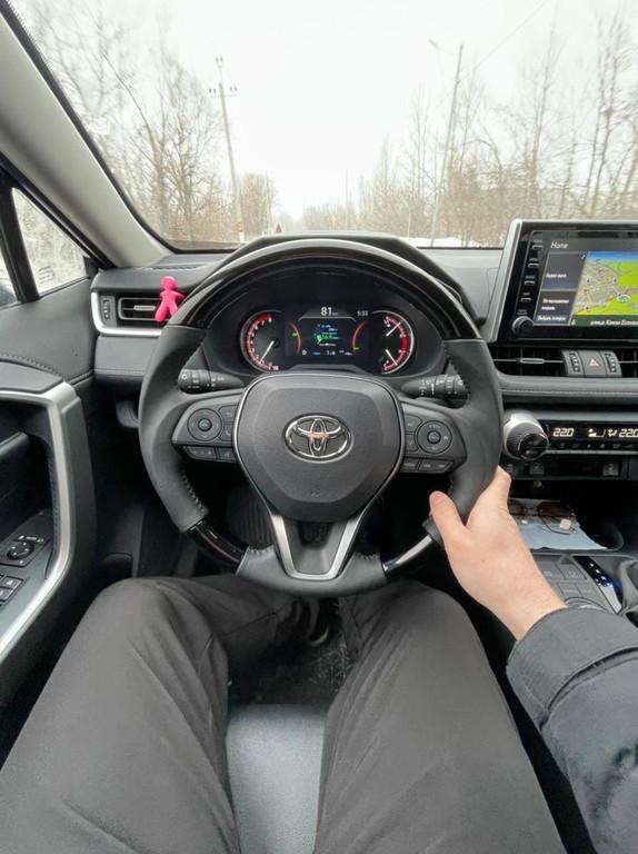 Наши клиенты✔ г.Уральск Замена руля черного дерево на Toyota RAV4 2019- Данные рули в наличии✔ #rav42019