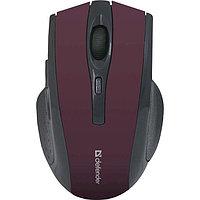 Мышь беспроводная Defender Accura Accura MM-665 красный,6 кнопок, 800-1600 dpi