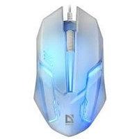 Мышь проводная Defender Сyber MB-560L, 7цветов,3кнопки,1200dpi, белый