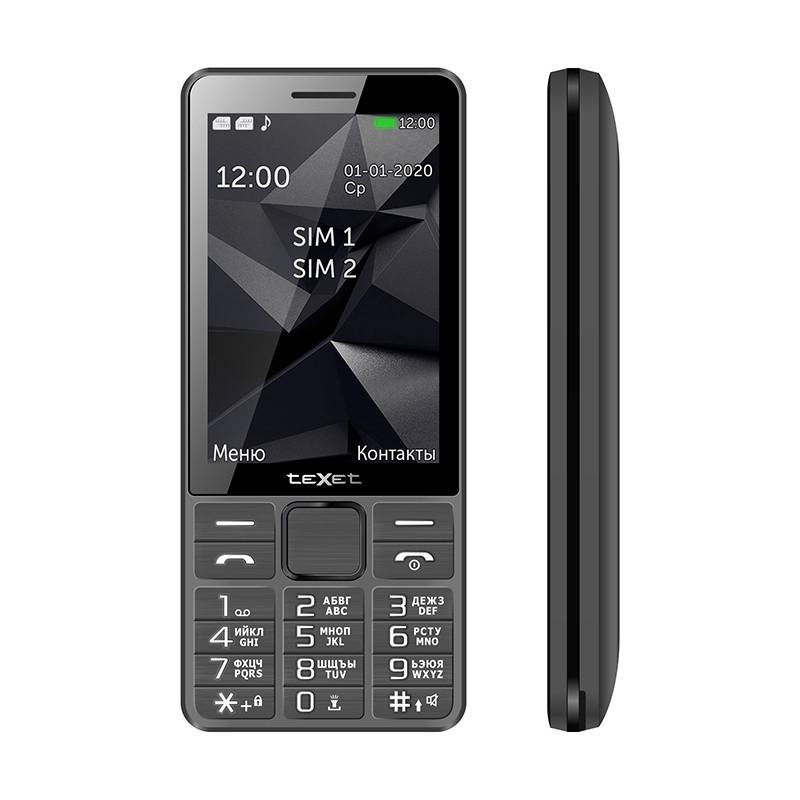 Мобильный телефон Texet TM-D324 серый