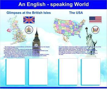 Стенд для кабинета английского языка