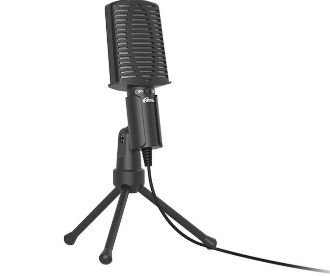 Настольный микрофон Ritmix RDM-125 черный