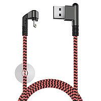 Кабель OLMIO X-Game Neo USB 2.0 - Lightning коралловый