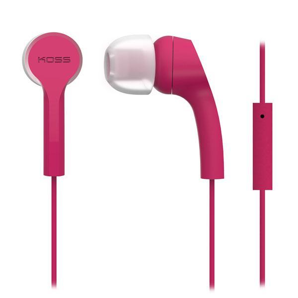 Наушники-вкладыши проводные Koss KEB9iP розовый