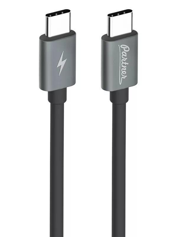 Кабель Partner USB3.1, USB type-C - USB type-C, 1м, черный