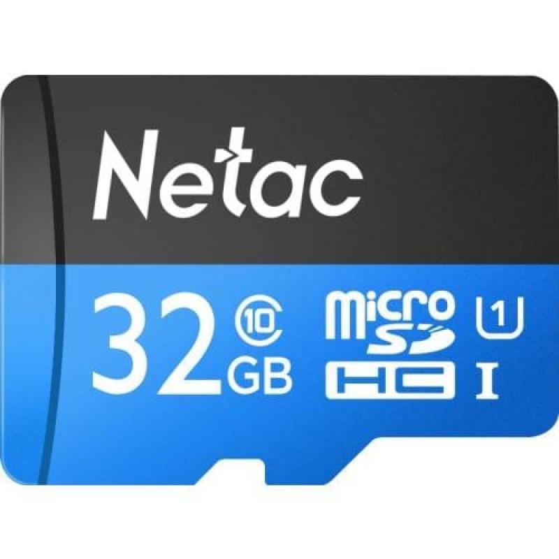 Карта памяти MicroSD 32GB Class 10 U1 Netac P500STN с адаптером SD