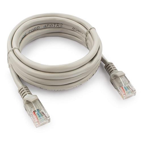 Патч-корд UTP Cablexpert PP12-2M кат.5e, 2м, литой, многожильный (серый)