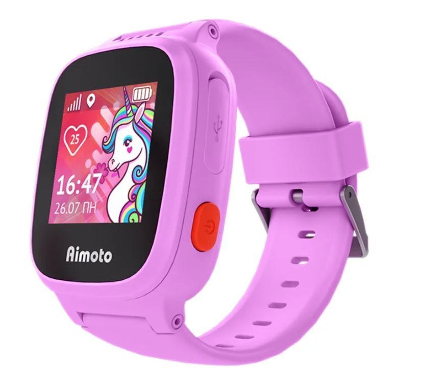 Смарт часы Aimoto Kid Единорог розовый