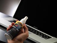 Спрей Fellowes для чистки экранов (120 мл) и 20 абсорбирующих салфеток, дерматолог. безопасны,(UK)