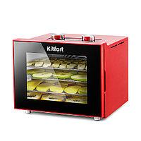 Сушилка для продуктов Kitfort КТ-1915-2 красный