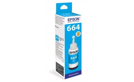 Чернила Epson C13T66424A L100/110/120/1300/132/200/210/222/300/312/350/355/362/366/456/550/555/566 голубой