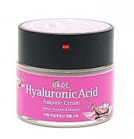 Крем 70мл ампульный интенсивно увлажняющий крем с гиалуроновой кислотой Ekel Hyaluronic Acid ampoule cream