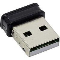 Сетевой адаптер, ASUS, USB-N10 Nano, 2.4 ГГц, 150 Мбит-с, 15.5 dBm, USB 2.0