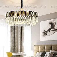 Люстра подвесная, стиль современный, цоколь Е14, цвет золото, фото 1