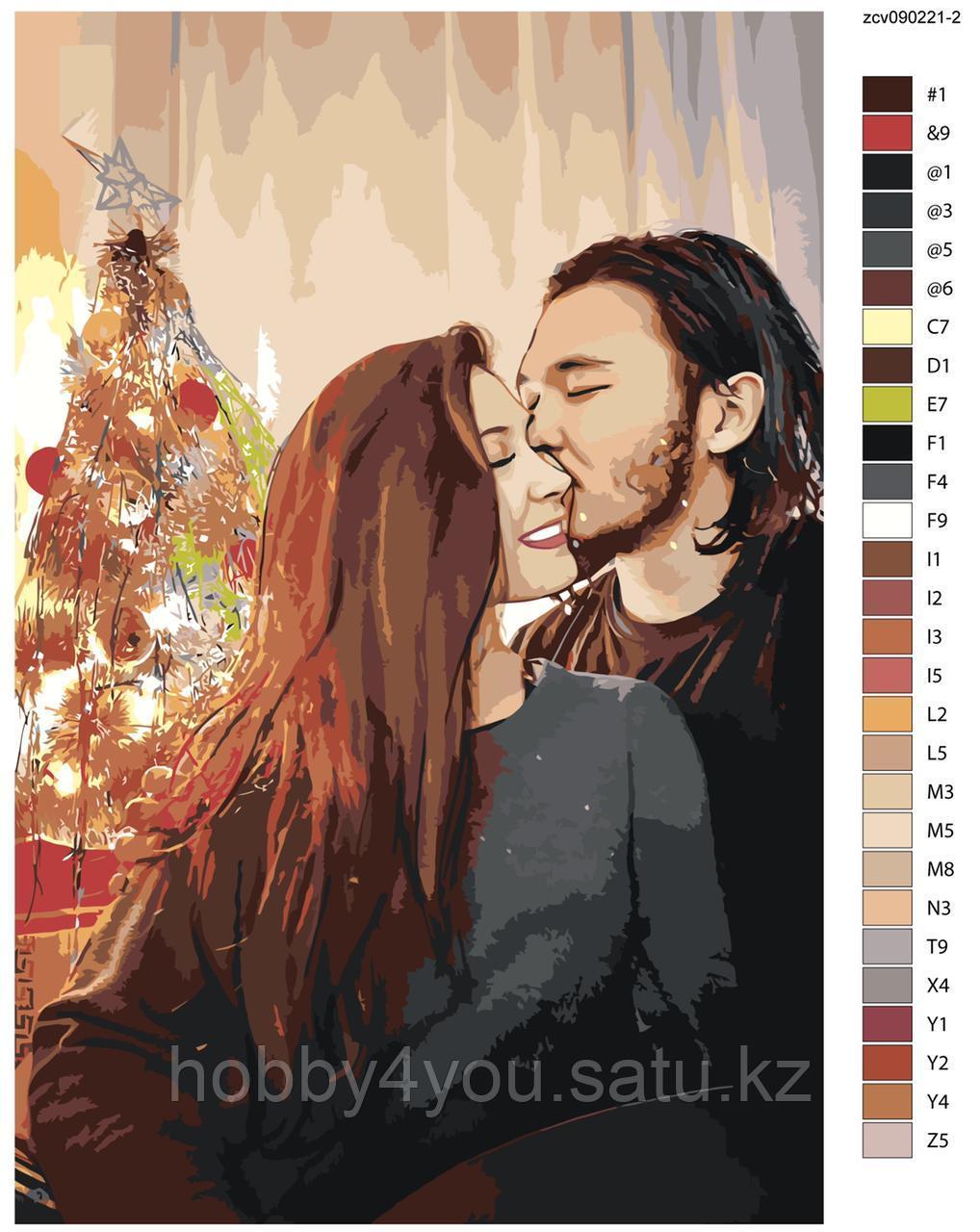 Триптих картина по номерам красками 3х40х60см по фото