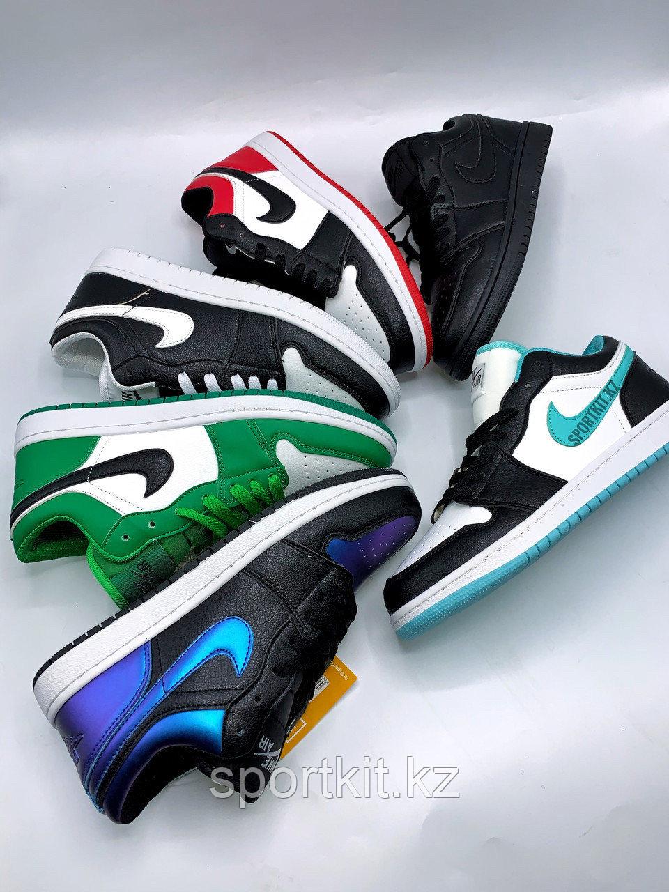 Кеды Nike Jordan низк бело зелёные - фото 1