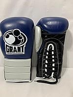 Боксерские перчатки  Grant ( натуральная кожа )  цвет синий