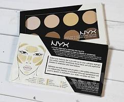Палетка сухих текстур для контурирования лица Highlight & Contour Pro Palette от NYX