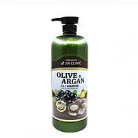 Шампунь для повреждённых волос с маслами аргании и оливы 3W Clinic Olive & Argan 2 in 1 Shampoo 1500 ml