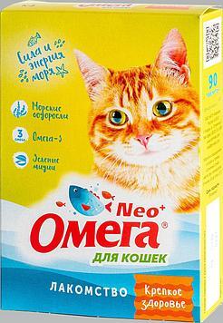 Витамины-Лакомство для кошек Омега Neo+ Крепкое здоровье