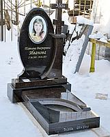 Комбинированный гранитный памятник (Балтийский гранит, черный гранит)