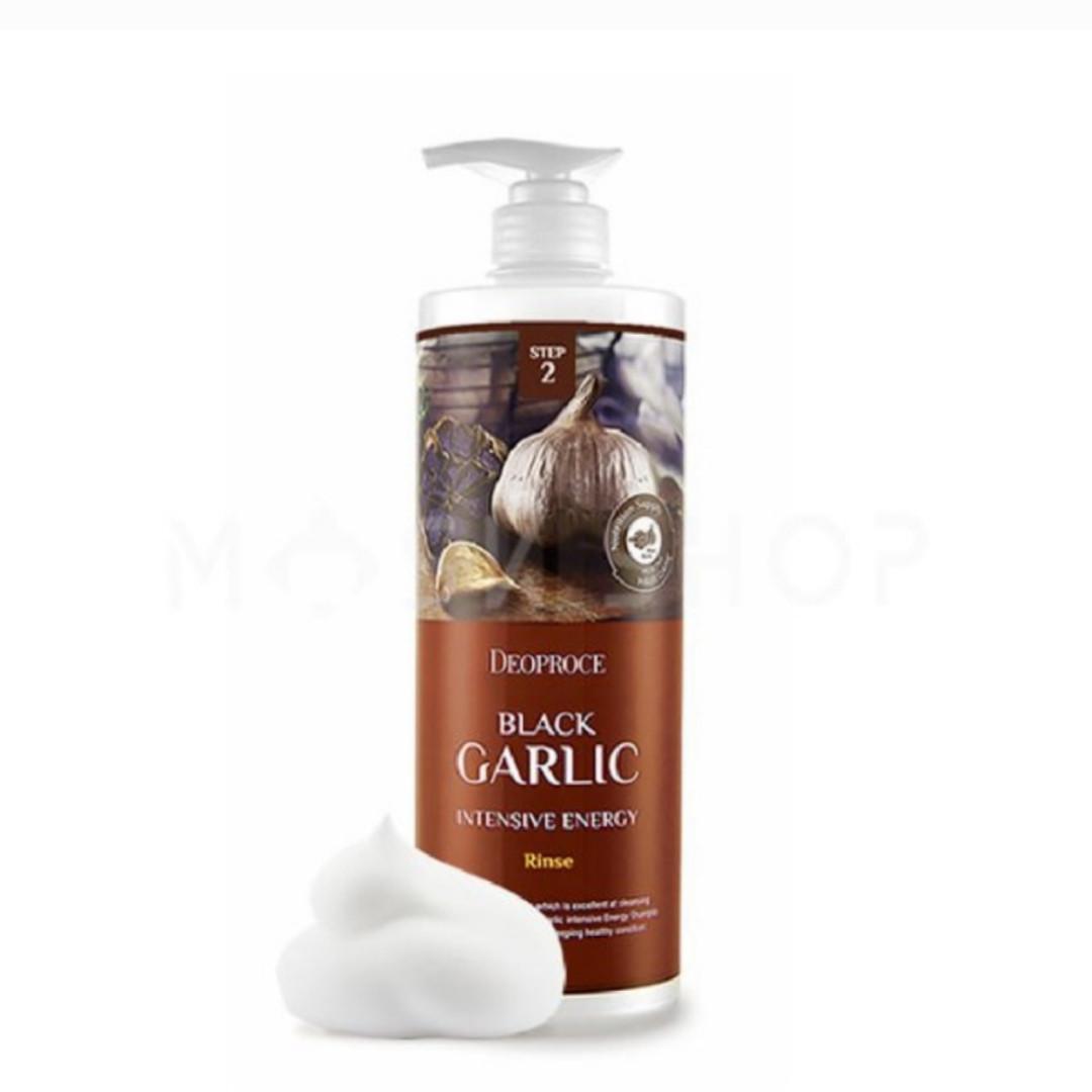 Интенсивный бальзам - ополаскиватель от выпадения волос Black Garlic Intensive Energy Deoproce 1000ml.