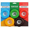 Набор кистевых эспандеров Fortius, 5 шт. (10-50 кг)