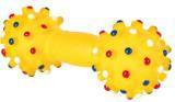 Trixie 3362 Игрушка винил, гантель,со звуком,  размер 19 см, различные цвета.