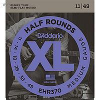 Струны для электрогитары D'Addario EHR370 Half Round, Medium, 11-49
