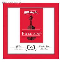 Струны для скрипки D'Addario J810-1/4M Prelude размером 1/4, среднее натяжение