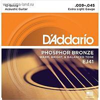 Комплект струн для акустической 12-струнной гитары D'Addariо EJ41 Phosphor Bronze