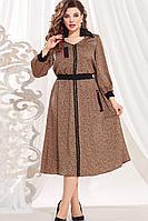 Женское осеннее нарядное большого размера платье Vittoria Queen 13473/1 50р.