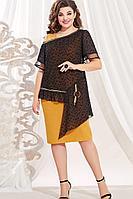 Женский осенний нарядный большого размера комплект с платьем Vittoria Queen 13633/1 48р.