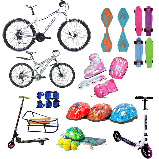 Велосипеды, самокаты, скейтборды