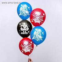 """Воздушные шары """"Super hero"""", Человек-паук (набор 5 шт) 12 дюйм"""