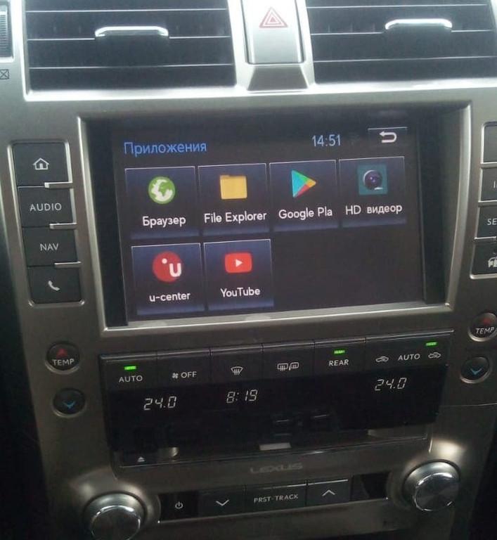 Lexus GX 460 навигационный блок Android navitouch 2