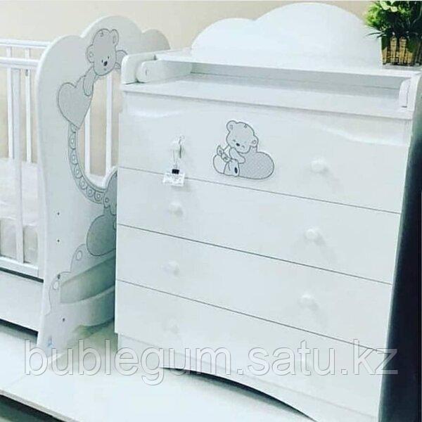 ЛЕЛЬ Комод Baby Sleep Белый МИШКИ ПР 011