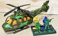 8660 Вертолет Military Series 4 солдата в колбе 29*12 4