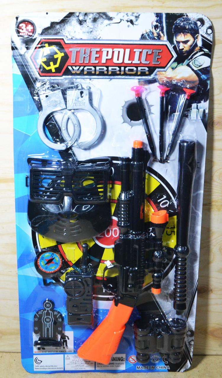002-16 Н-р The Police Warrior с маской 9 предметов на картонке 57*28