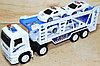 8818B Трейлер Police Truck 4 машинки в колбе 35*14