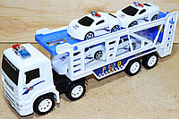 8818B Трейлер Police Truck 4 машинки в колбе 35*14, фото 1